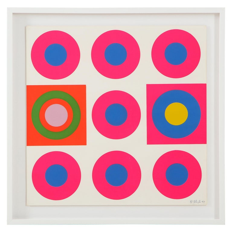 Peter Gee Pop Art Pink, Blue, Orange Screen-Print