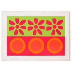 Peter Gee Target and Daisies Silkscreen Pop Art