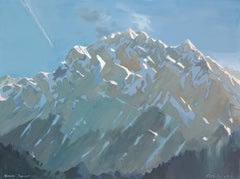 Murenz, Piedmonte, snow covered mountains subtle colors