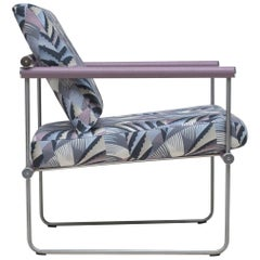 Peter Ghyczy Armchair Safari Audrey 'GP05' Steel / Oak / Chrysler Fabric