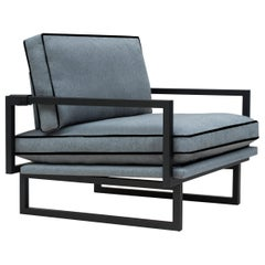 Peter Ghyczy Armchair Urban Brad 'GP01' Charcoal or Grey Blue Fabric