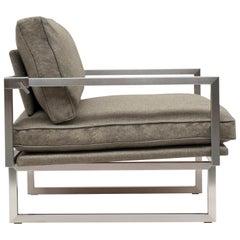 Peter Ghyczy Armchair Urban Brad 'GP01' Stainless Steel Matt / Sand Fabric