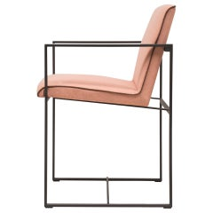 Peter Ghyczy Armchair Urban Maia 'S06+' Ristretto / Pale Orange Fabric