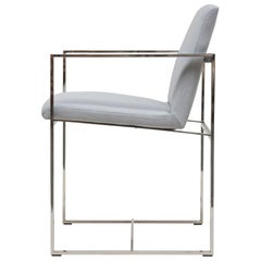 Peter Ghyczy Armchair Urban Maia 'S06+' Stainless Steel Gloss / Grey Fabric
