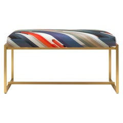 Peter Ghyczy Bench Urban Grace 'GB03' Brass Matt / Cubiste Fabric