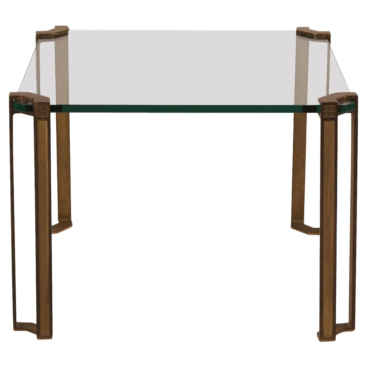 Peter Ghyczy Bronze and Glass Table