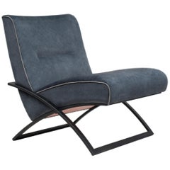 Peter Ghyczy Armchair Urban Wave 'GP03' Charcoal / Dark Blue Fabric