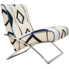 Peter Ghyczy Chair Urban Wave 'GP03' Stainless Steel Gloss / Rocky Boy