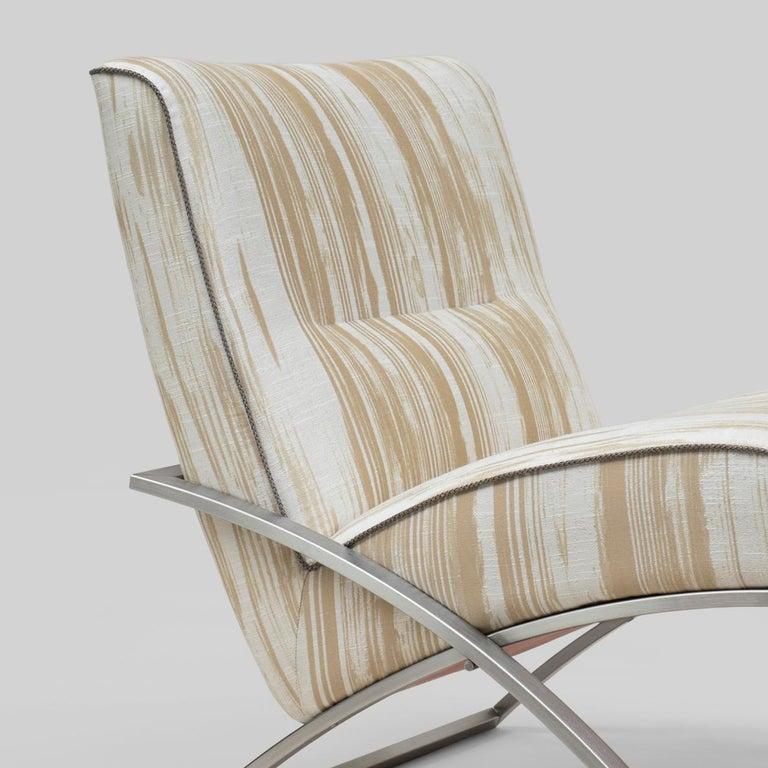 Modern Peter Ghyczy Chair Urban Wave 'GP03' Stainless Steel Matt / Pampelonne For Sale
