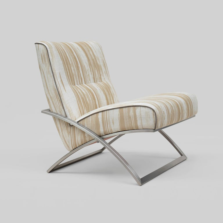 Powder-Coated Peter Ghyczy Chair Urban Wave 'GP03' Stainless Steel Matt / Pampelonne For Sale