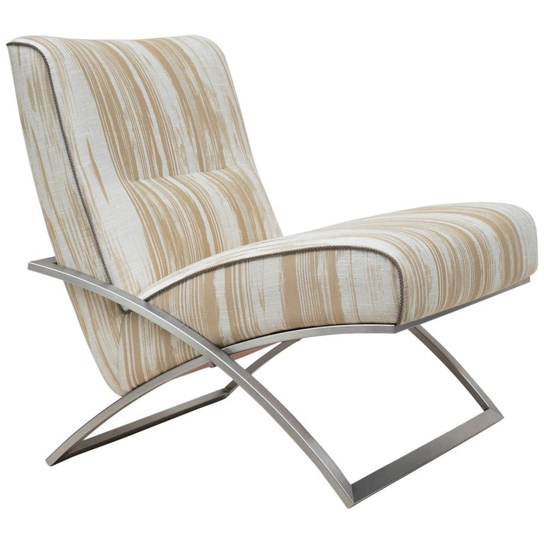 Peter Ghyczy Chair Urban Wave 'GP03' Stainless Steel Matt / Pampelonne For Sale