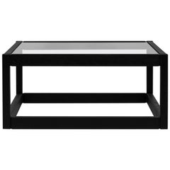 Peter Ghyczy Coffee Table Embassy Kirk 'T83' Oak 2448 / Clear Glass