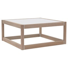 Peter Ghyczy Coffee Table Embassy Kirk, T83 Oak Latte / Satin Glass