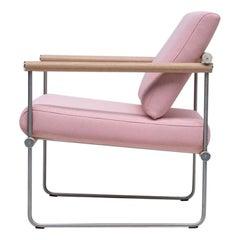 Peter Ghyczy Contamporary Chair Safari Audrey 'GP05' Stainless Steel Matt / Oak