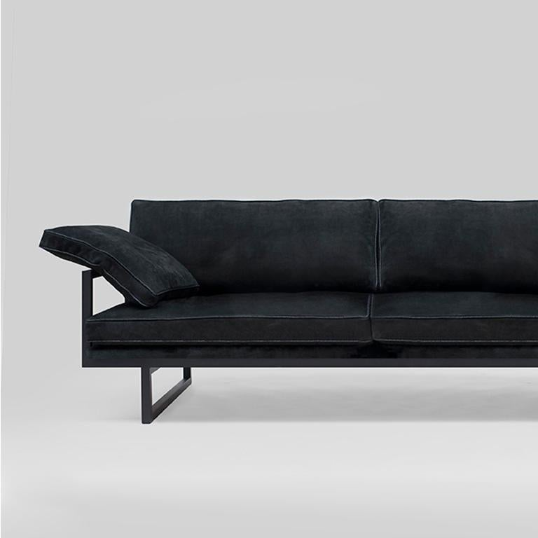 Modern Peter Ghyczy Contemporary Urban Brad GP01 Black Charcoal Sofa For Sale