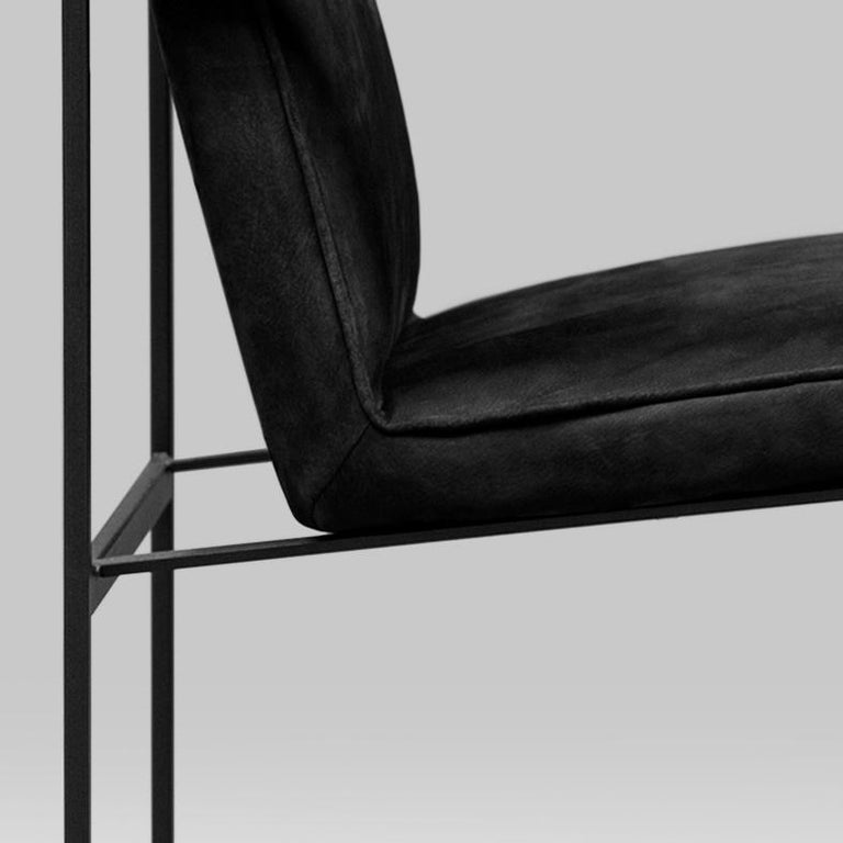 Peter Ghyczy Contemporary Armchair Urban Maia S06+ Charcoal / F/31 For Sale 4