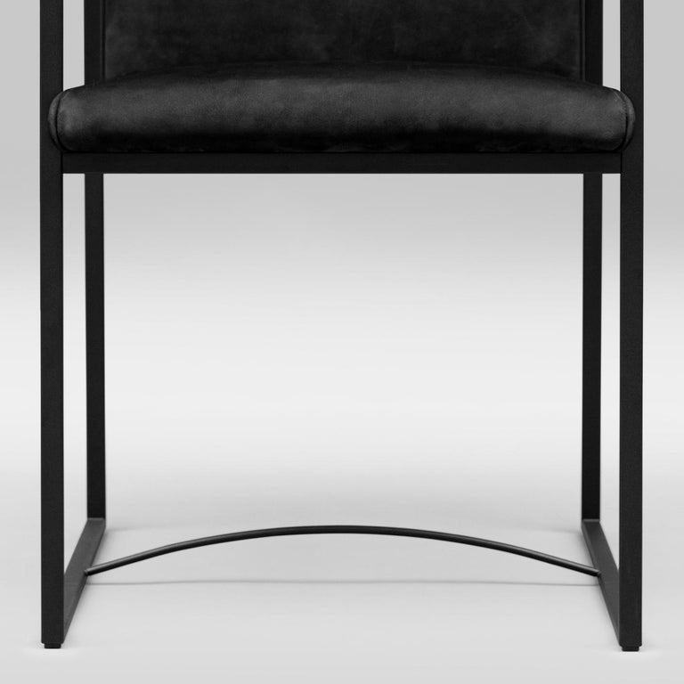 Peter Ghyczy Contemporary Armchair Urban Maia S06+ Charcoal / F/31 For Sale 7