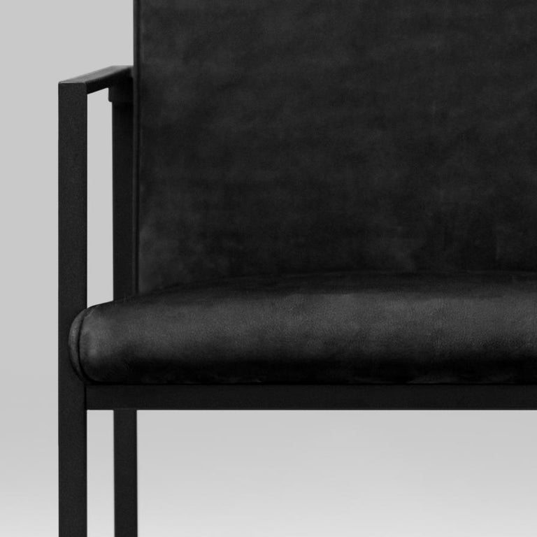 Peter Ghyczy Contemporary Armchair Urban Maia S06+ Charcoal / F/31 For Sale 8