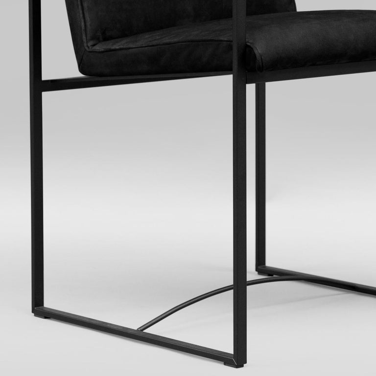 Peter Ghyczy Contemporary Armchair Urban Maia S06+ Charcoal / F/31 For Sale 9
