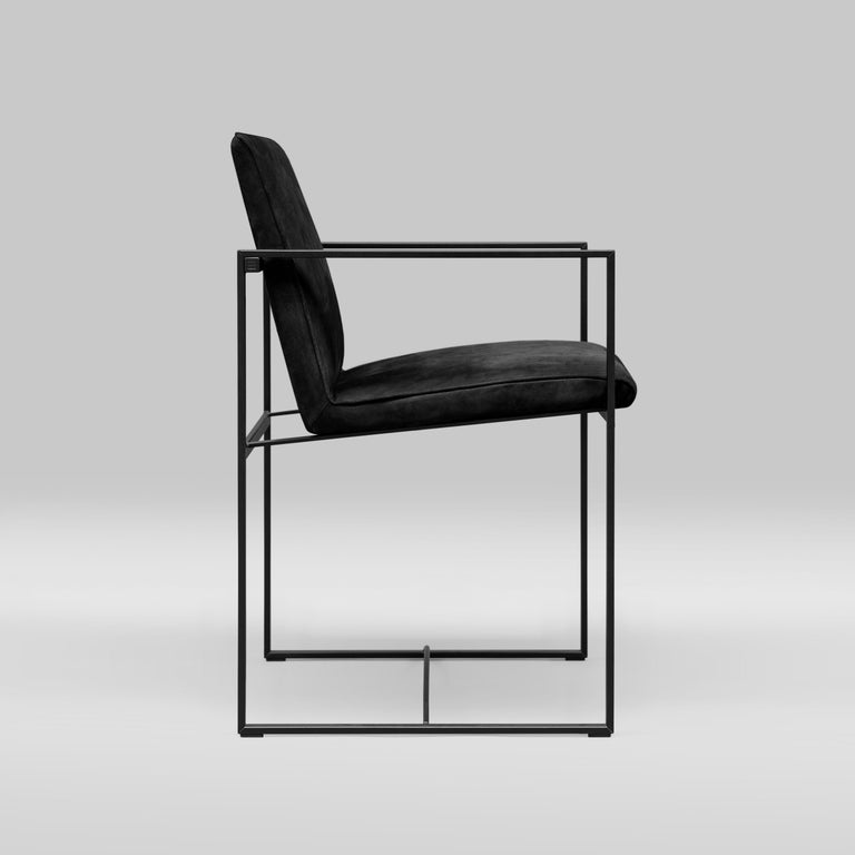 Minimalist Peter Ghyczy Contemporary Armchair Urban Maia S06+ Charcoal / F/31 For Sale