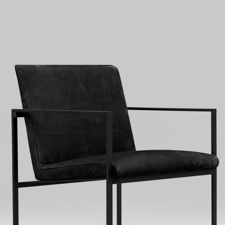Metal Peter Ghyczy Contemporary Armchair Urban Maia S06+ Charcoal / F/31 For Sale