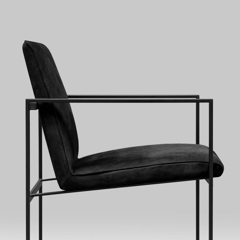 Peter Ghyczy Contemporary Armchair Urban Maia S06+ Charcoal / F/31 For Sale 1