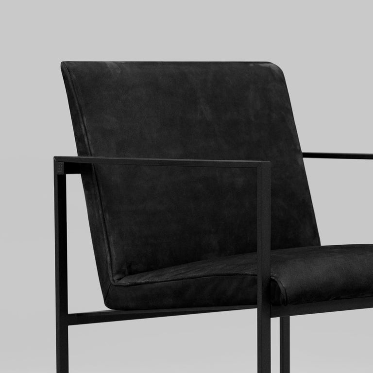 Peter Ghyczy Contemporary Armchair Urban Maia S06+ Charcoal / F/31 For Sale 2