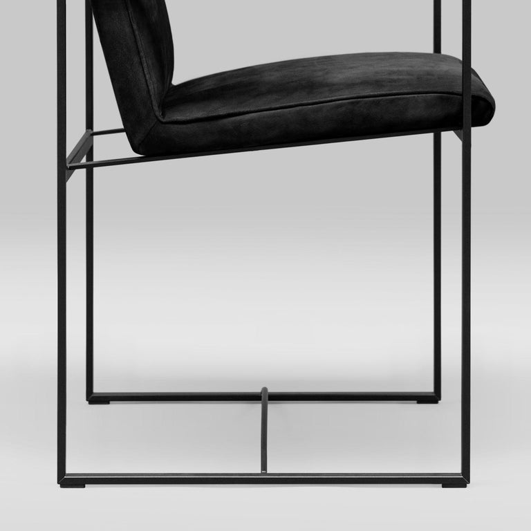 Peter Ghyczy Contemporary Armchair Urban Maia S06+ Charcoal / F/31 For Sale 3