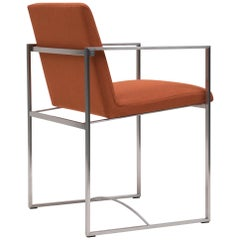 Peter Ghyczy Contemporary Armchair Urban Maia S06 + Stainless Steel Matt / V12