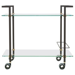 Peter Ghyczy Contemporary Tea Trolley Pioneer Doris T63S Ristretto/ Brass Matt