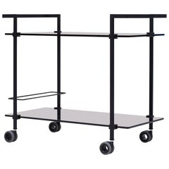 Peter Ghyczy Contemporary Tea Trolley Pioneer T63S Charcoal / Tinted Black