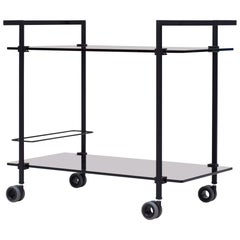 Peter Ghyczy Contemporary Tea Trolley Pioneer 'T63S' Charcoal / Tinted Glass