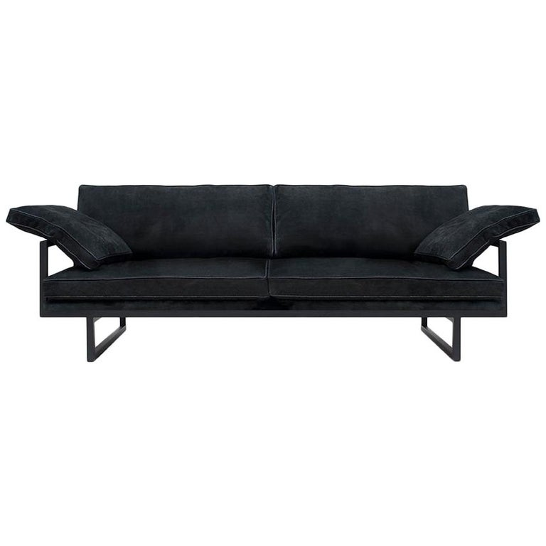 Peter Ghyczy Contemporary Urban Brad GP01 Black Charcoal Sofa For Sale