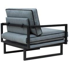 Peter Ghyczy Armchair Urban Brad 'GP01' Charcoal / Grey Blue Fabric