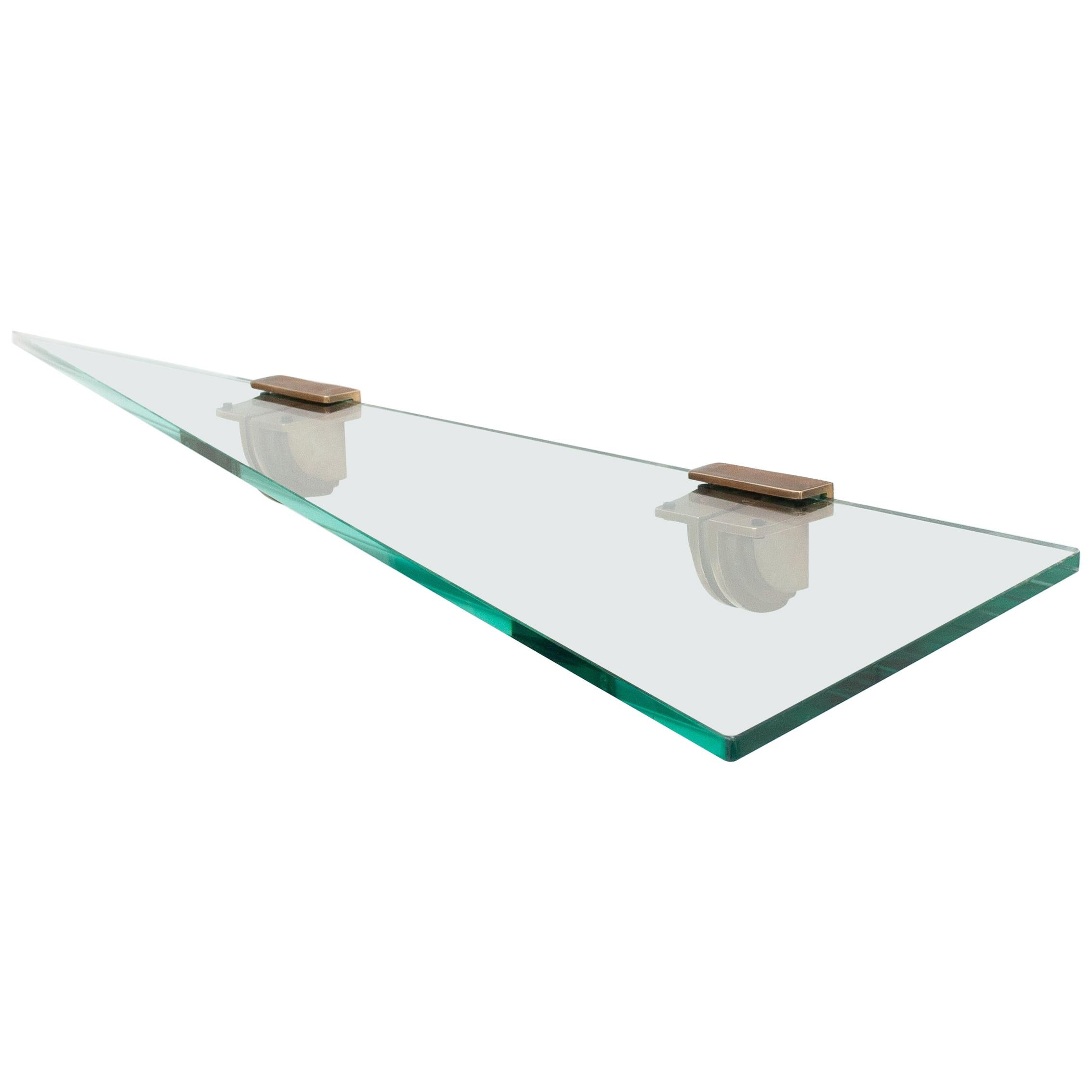 Peter Ghyczy Glass Wall Shelve, 1970