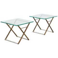 Peter Ghyczy Pair of Side Tables, Holland, 1980