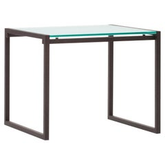 Peter Ghyczy Side Table Duet 'T73' Ristretto / Clear Glass