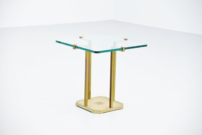 Hollywood Regency Peter Ghyczy Side Table, Holland, 1985 For Sale