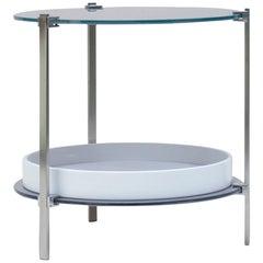 Peter Ghyczy Side Table Pioneer Amy 'T79DB' Steel Matt or Aluminum Matt