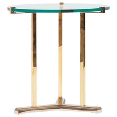 Peter Ghyczy Side Table Pivot 'T82' Brass or Clear Glass