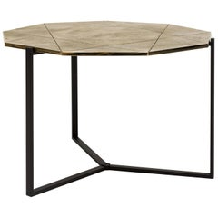Peter Ghyczy Side Table Pivot 'T82' Limited Edition Ristretto / Brass