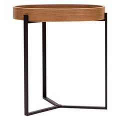 Peter Ghyczy Side Table Pivot 'T82' Ristretto or Walnut