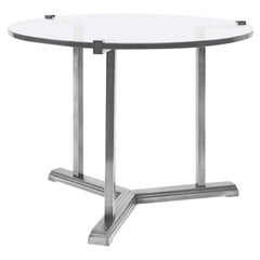 Peter Ghyczy Side Table Pivot 'T82' Steel / Clear Glass