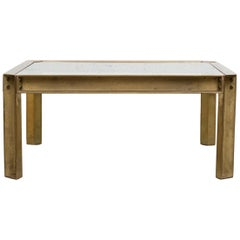 Peter Ghyczy T09 Brass and Glass Industrial Style Coffee Table