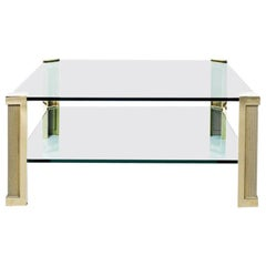 Peter Ghyczy Table Pioneer 'T14D' Brass / Glass