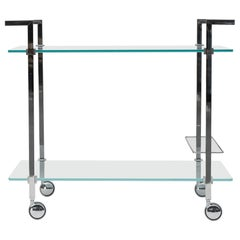 Peter Ghyczy Tea Trolley Pioneer Doris T63S Stainless Steel Matt / Aluminum Mat