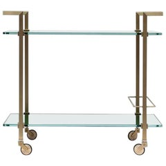 Peter Ghyczy Tea Trolley Pioneer 'T63S' Limited Edition Brass / Tinted Ral Glass