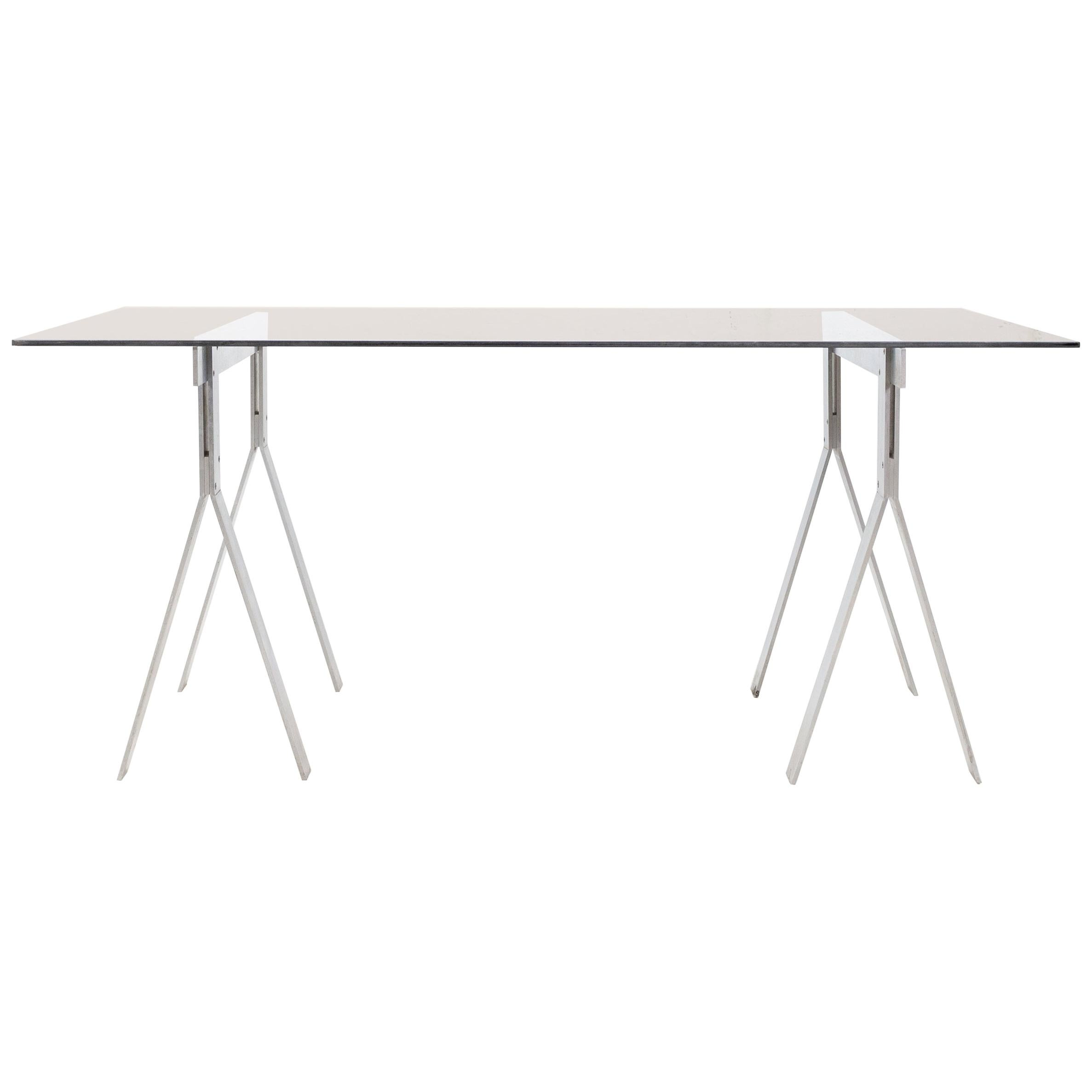 Peter Ghyczy Style Trestles Writing Table