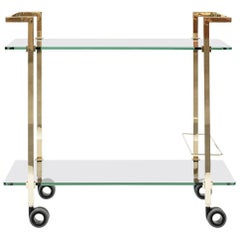 Peter Ghyczytea Trolley Pioneer Doris T63S Brass Gloss/Clear Glass