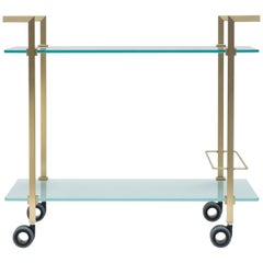 Peter Ghyczy Tea Trolley Pioneer Doris T63S Brass Matt / Satin Glass